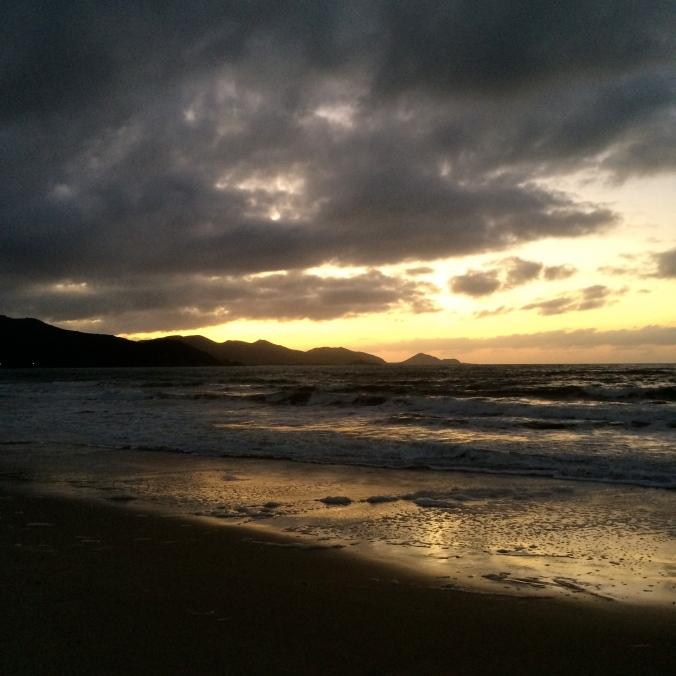 sunset tasmania